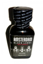 Poppers Amsterdam Black  label 24ml - Le poppers Amsterdam dans une nouvelle formule encore plus forte, Black Label oblige!