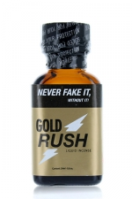 Poppers Gold Rush 24 ml - A base de nitrite de Pentyle, c'est le poppers le plus fort du marché.